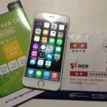 iPhone 6とOCN モバイル ONEの写真