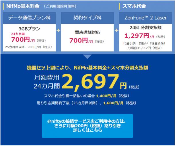 NifMoスマホセットプラン料金内訳