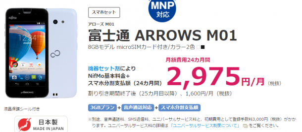 NifMo、ARROWS M01
