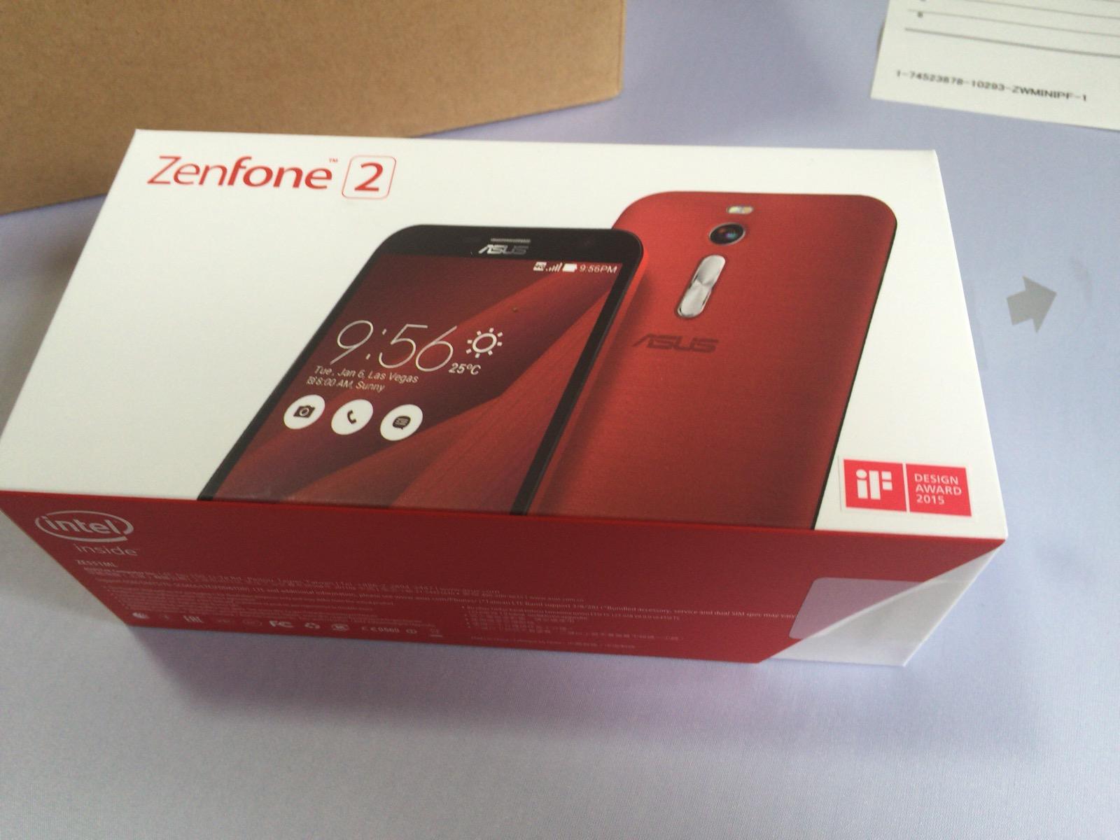 Zenfone 2の箱の見た目