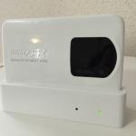 WiMAX2+モバイルルーター「WX02」とクレードル